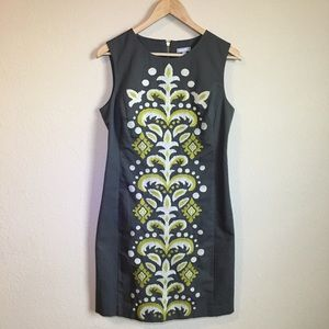Anthropologie Tabitha embroidered fountain dress